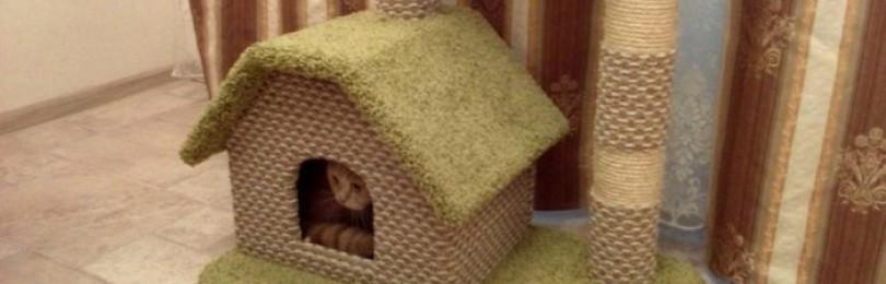Креативные идеи домика для кошки