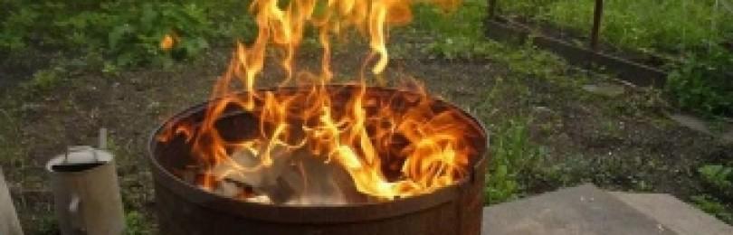 Можно ли сжигать мусор на своем участке?