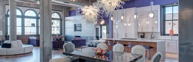 Кухня в стиле лофт: примеры дизайна, 110 фото
