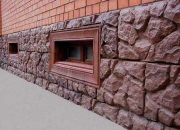 Отделка цоколя камнем и цокольным сайдингом под камень