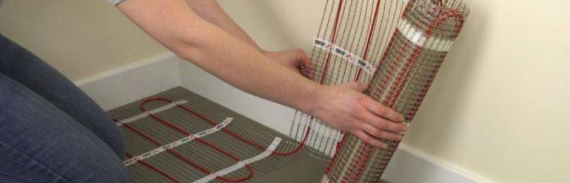 Устройство электрического теплого пола: виды, схемы, монтаж своими руками