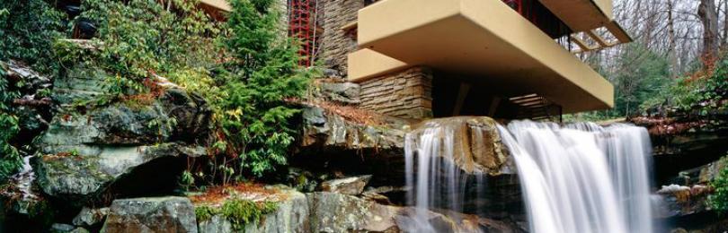 Чудесное и необычайное рядом с нами: дом-водопад в США