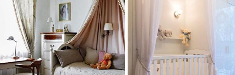 Как крепить балдахин над детской кроваткой