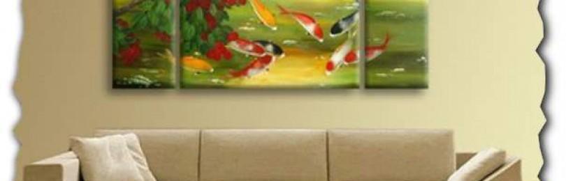 Картины с цветами: как они применяются в современном интерьере?