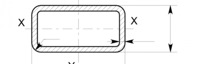 Расчёт веса прямоугольной трубы 90х60х4 мм