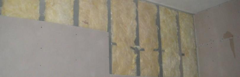 Обшивка стен гипсокартоном со слоем звукоизоляции