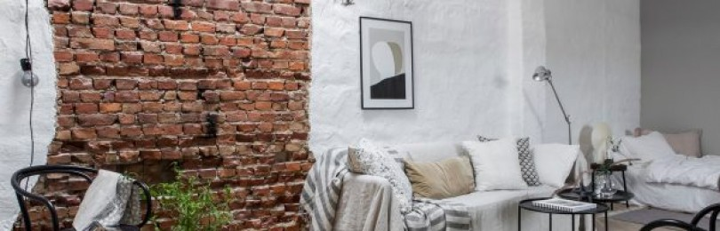 Кирпичная стена в интерьере в зависимости от выбранной стилистики + фото