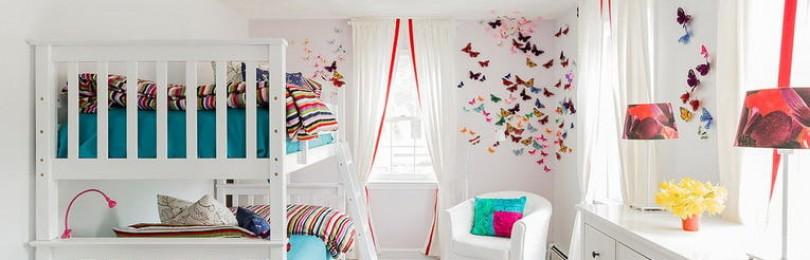 Варианты дизайна штор в гостиную на два окна