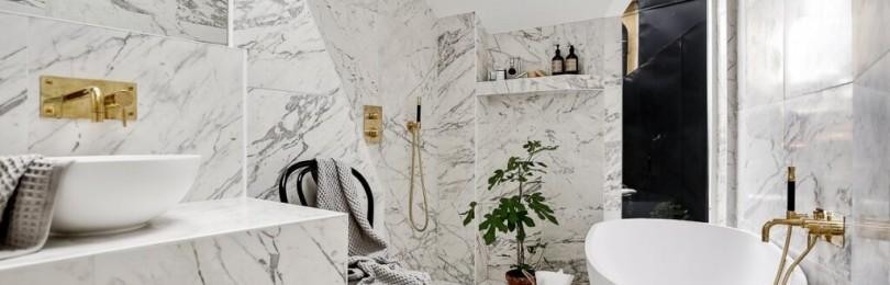 Мраморные ванные комнаты: плюсы и минусы, примеры дизайна интерьера