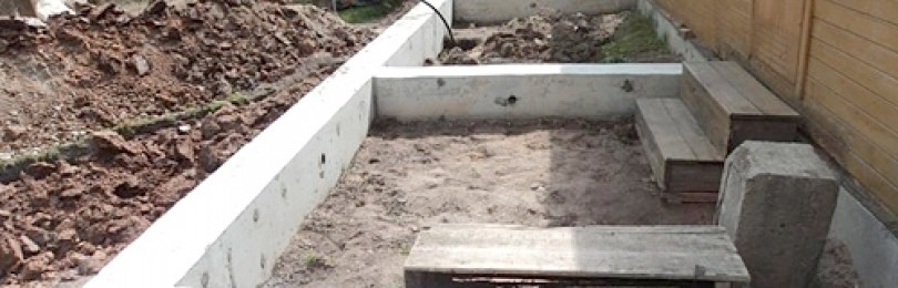 Фундамент для веранды к дому
