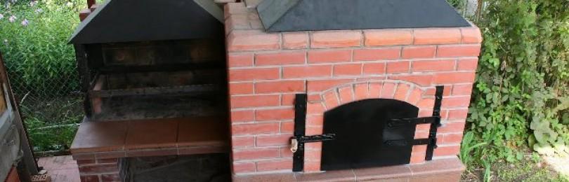 Печь с мангалом на улице для дачи своими руками
