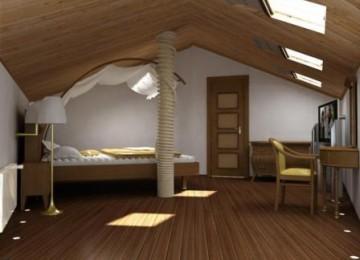Внутренняя отделка мансардного этажа