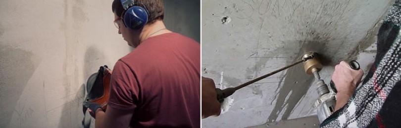Штробление стен под проводку: главное