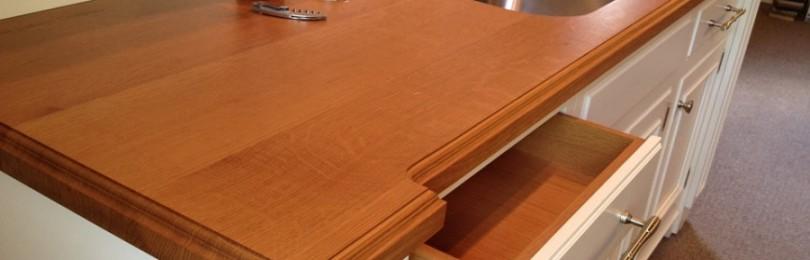 Кухонная столешница из дерева: особенности, установка, уход
