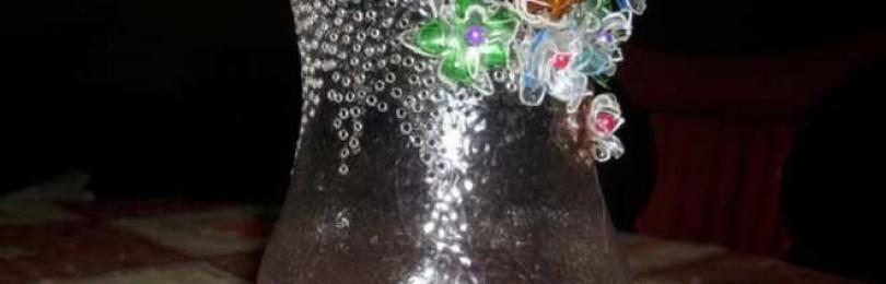 Как сделать вазу из пластиковой бутылки