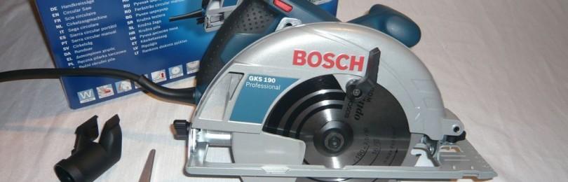Пила дисковая bosch gks 190: обзор и отзывы покупателей