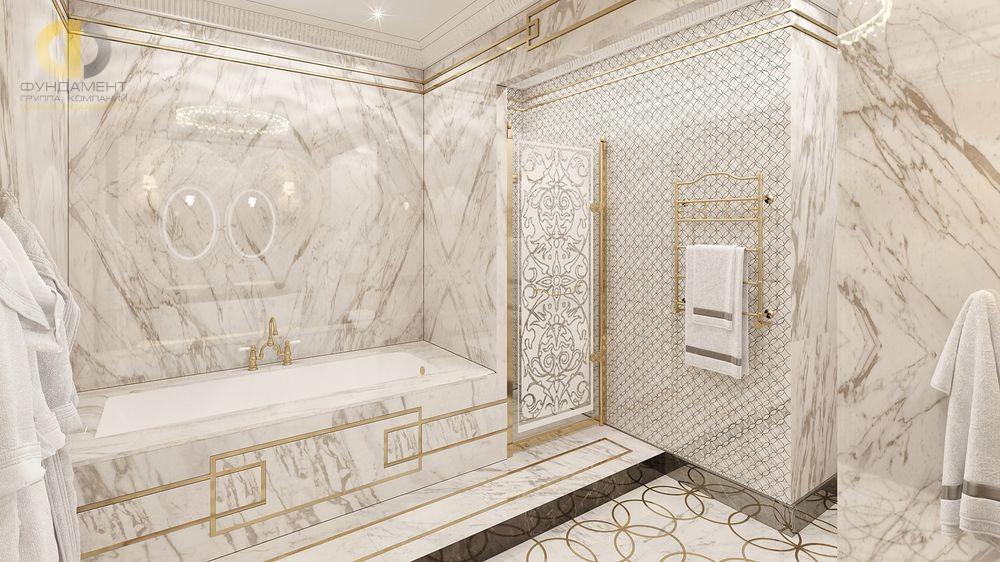 Ванная комната под мрамор, дизайн-фото инерьеров отделки