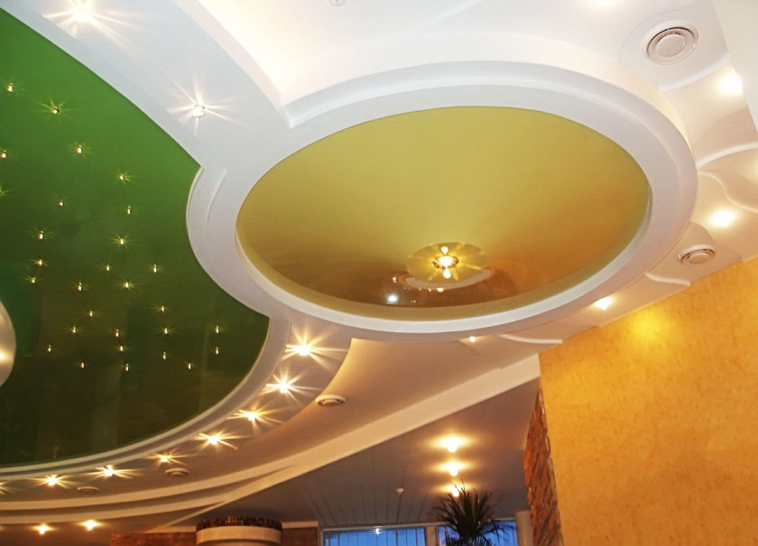 Световые линии на потолке (18 фото)