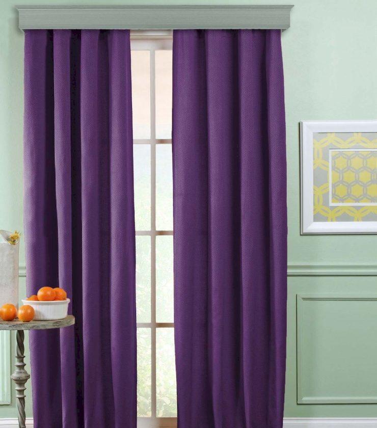 сиреневые шторы в интерьере