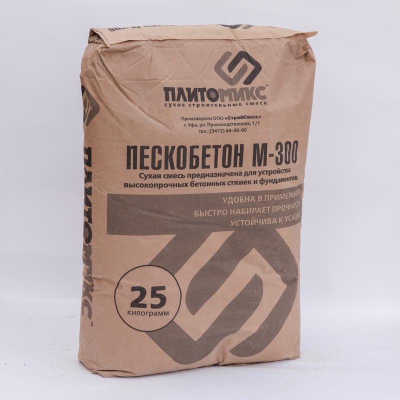 Пескобетон м300, области применения, состав, популярные производители