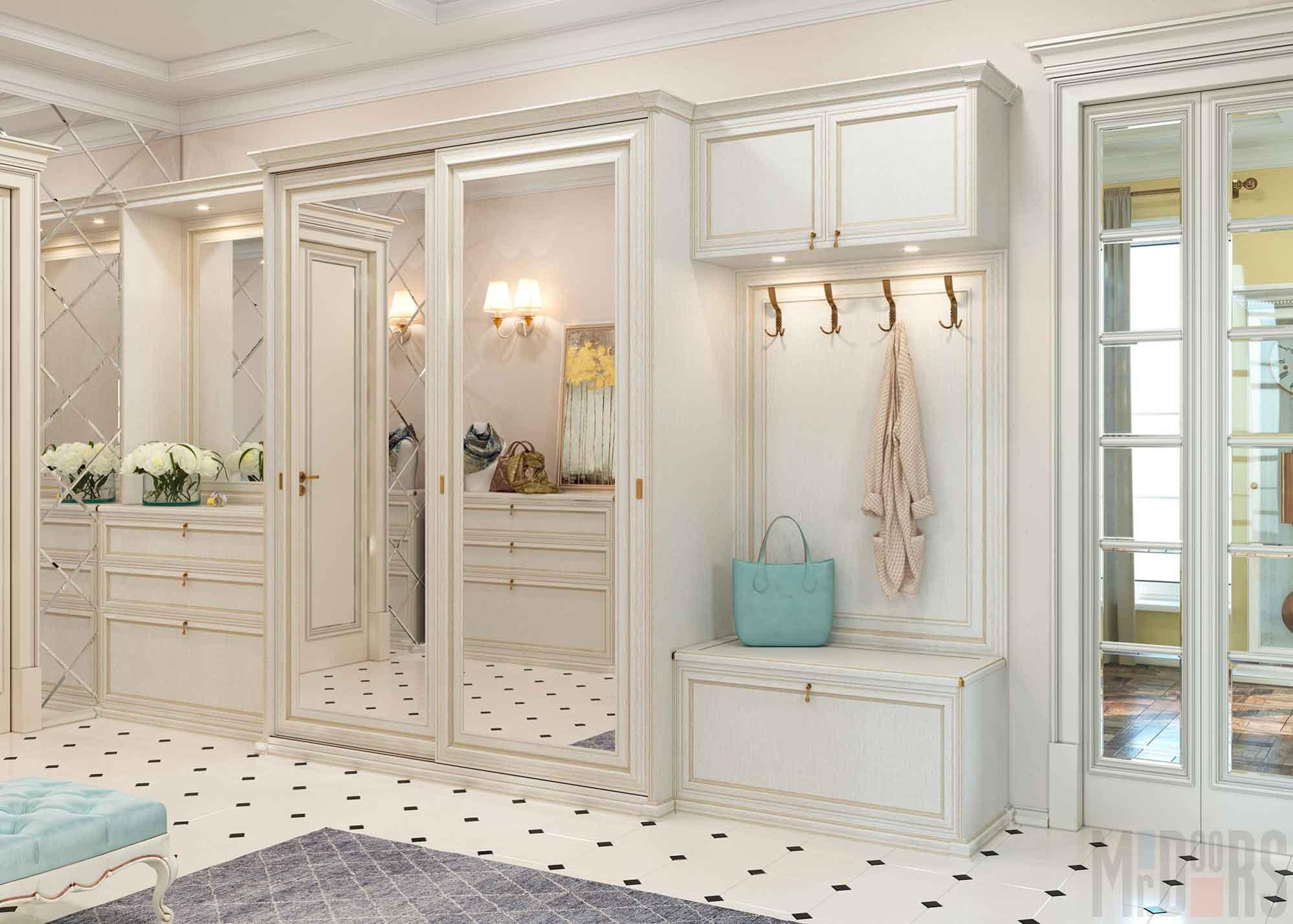 Интерьер квартиры в стиле модерн, варианты дизайна для спальни, прихожей + фото