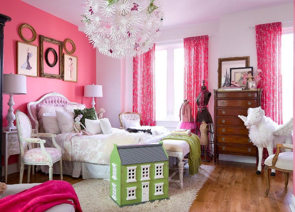 Розовые обои: нежный цветовой интерьер