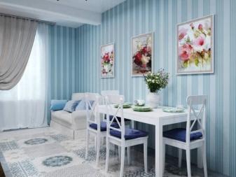 Использование синих и голубых штор в интерьере спальни