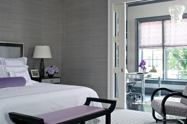 Оформление интерьера гостиной в сиреневом цвете
