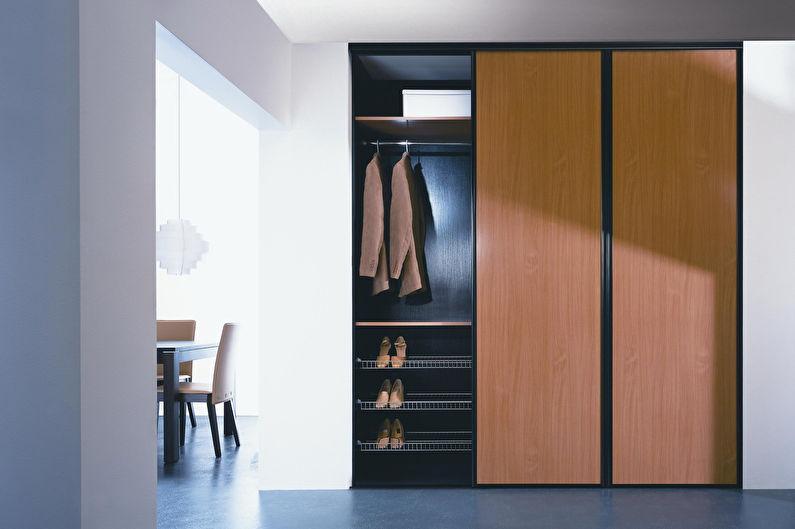 встроенный шкаф в прихожей дизайн