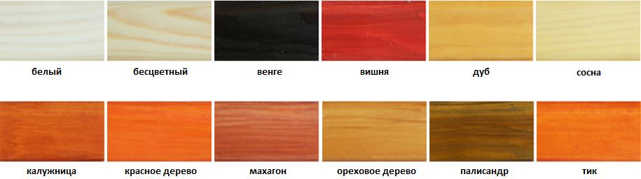 евротекс аквалазурь цвета