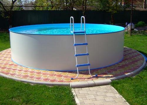 подиум для каркасного бассейна