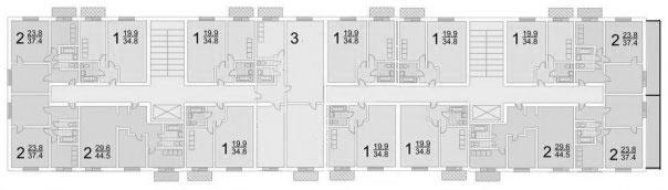 Дома серии ii-18/12 - планировки | advance realty