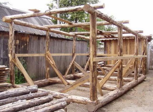 Пошаговая инструкция постройки деревянного гаража своими руками и чертежи