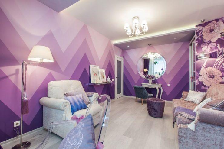 Сиреневая спальня — идеи для оформления интерьера и фото