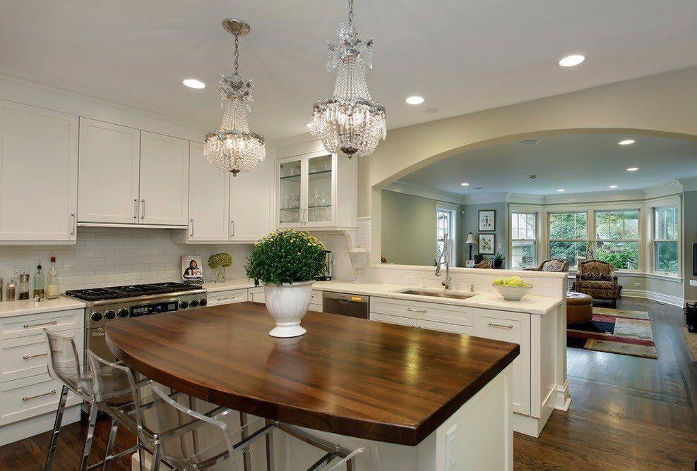 Зонирование кухни и гостиной: 65 красивых идей (фото)