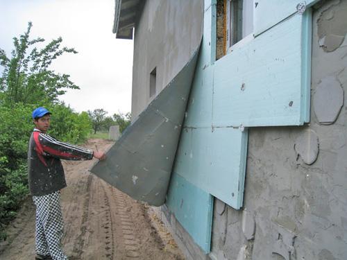 утепление фасада дома снаружи пенопластом