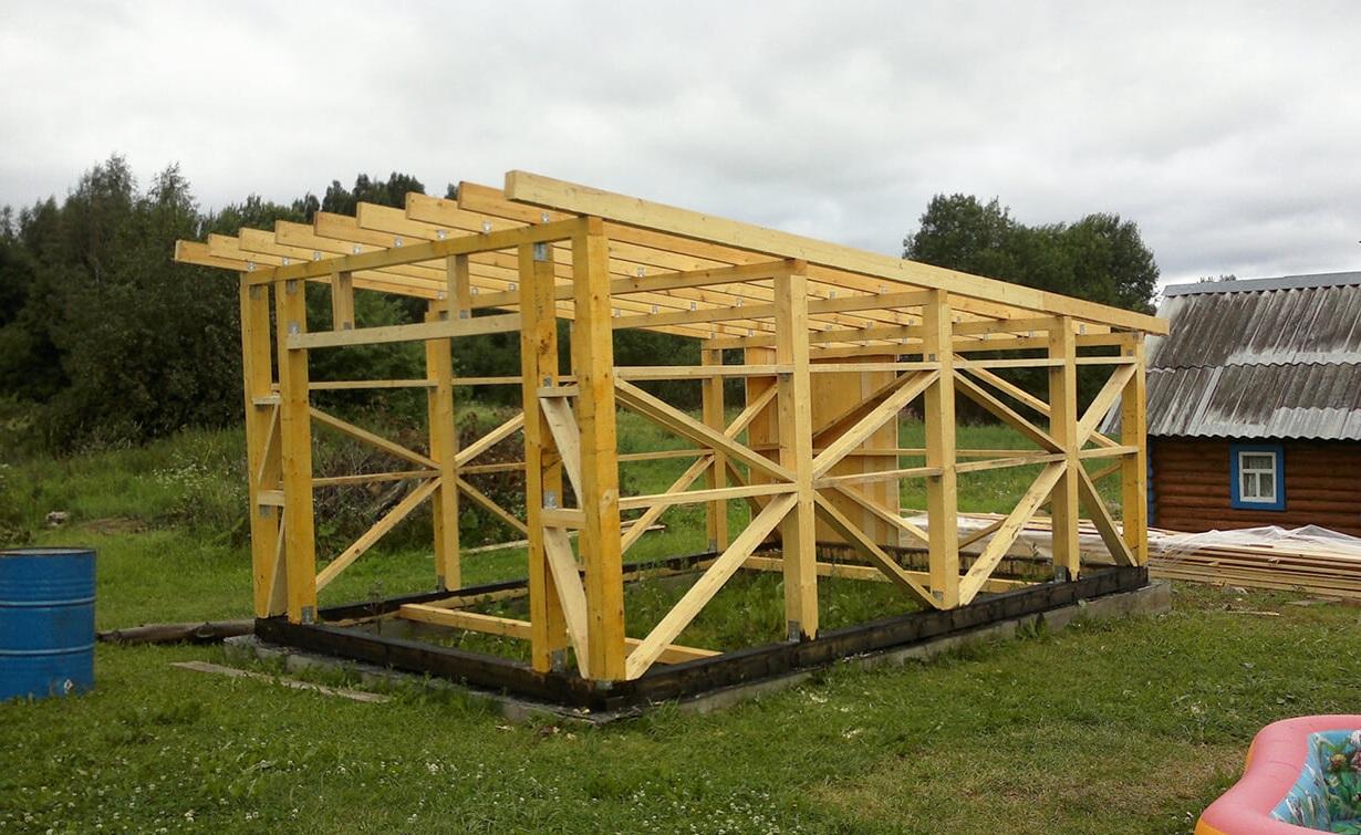 Односкатная крыша для сарая: бюджетный вариант