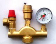 Предохранительный клапан в системе отопления: сброс давления с помощью аварийного затвора