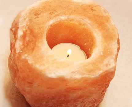 светильник из соли