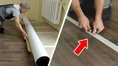 Теплый пол под линолеум (60 фото): электрический, инфракрасный и пленочный для деревянного или бетонного пола