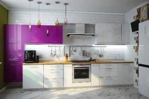 линейная кухня фото