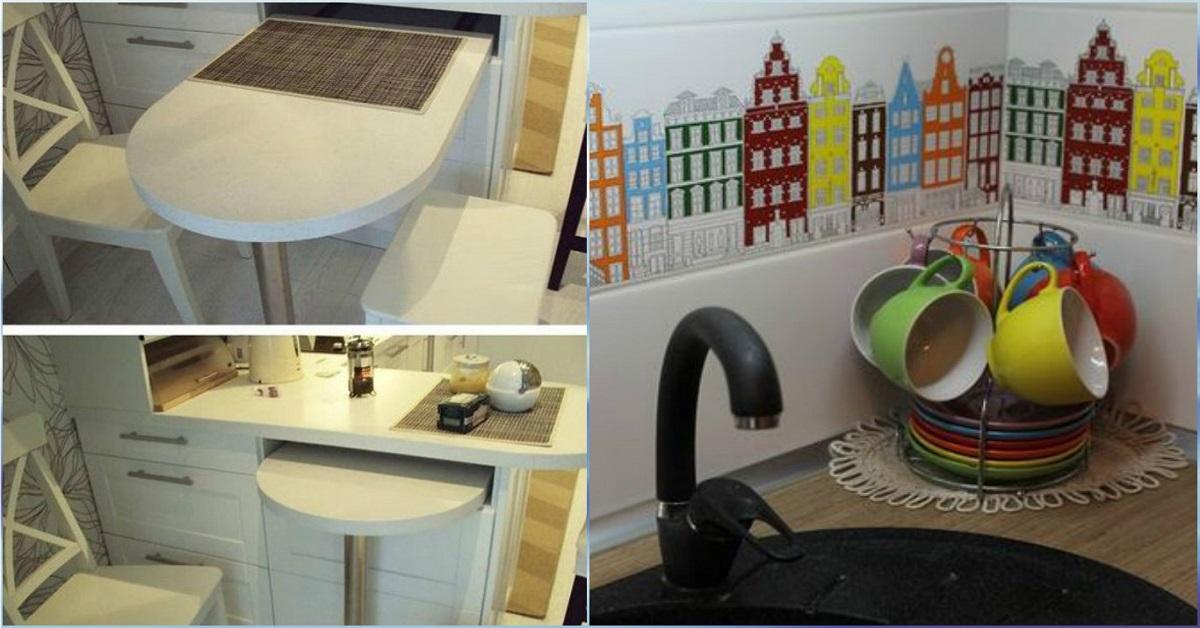 Выдвижной стол на кухне (36 фото): кухонный гарнитур с выдвижным столом на колесиках для маленькой кухни, другие варианты