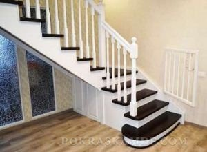 краска для лестницы деревянной внутри дома