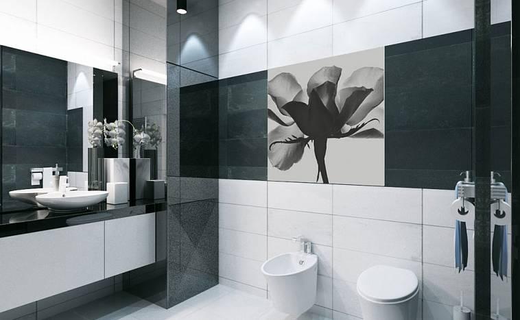 Интерьер бело черной гостиной - 120 фото примеров