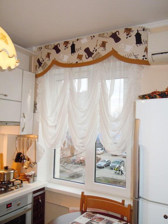 Ламбрекены на кухню - 107 фото изысканных вариантов штор в кухне!