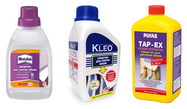 жидкость для снятия обоев в домашних условиях