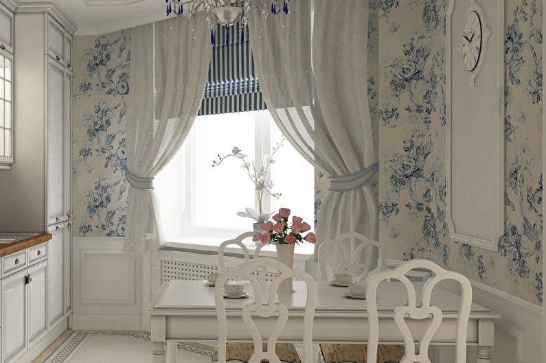 шторы прованс в интерьере фото гостиная