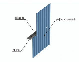 Как крепить профлист на забор - всё о воротах и заборе
