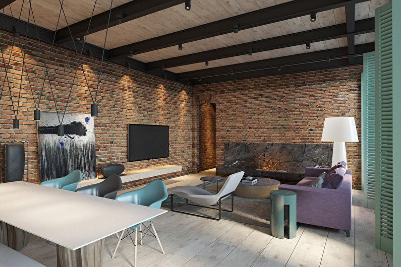 Интерьер в стиле лофт 2017 — 93 фото кухни, спальни и гостиной   the architect