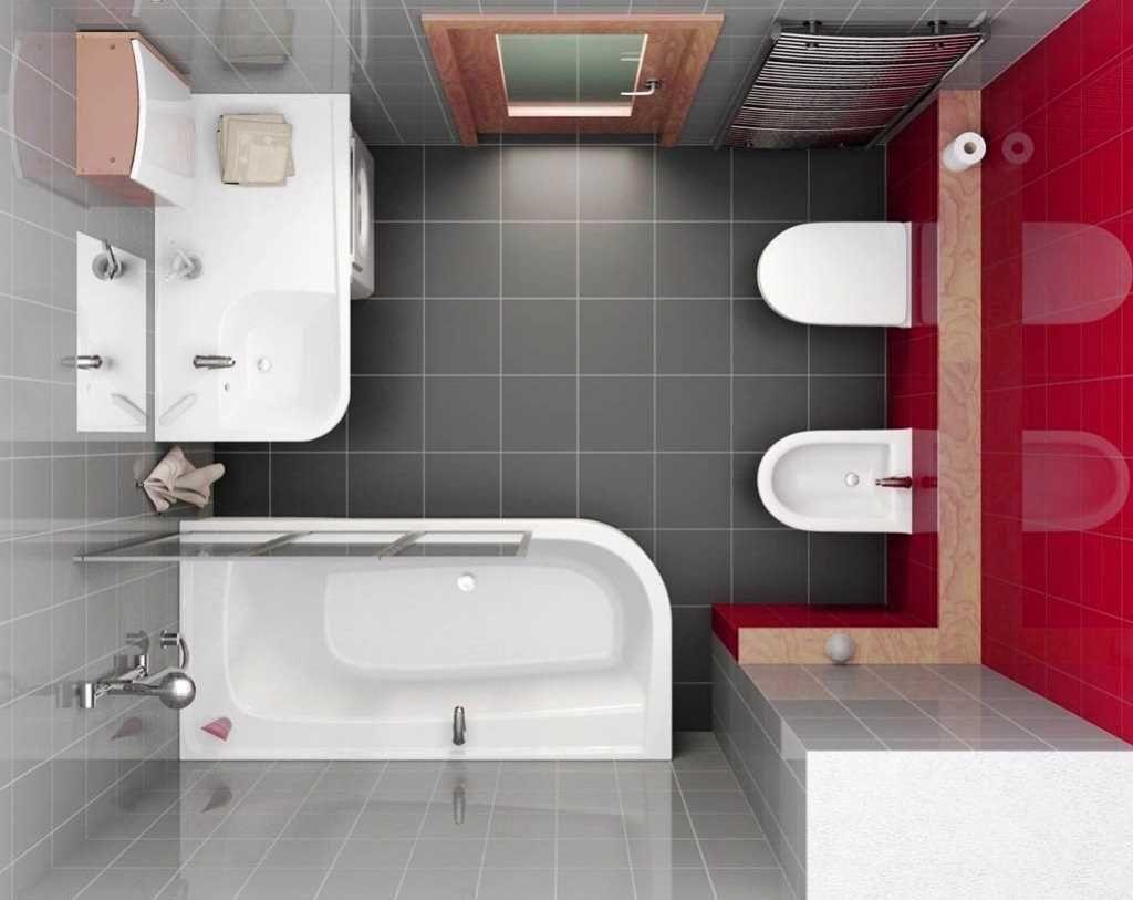 75 практичных идей дизайна ванной комнаты 6 кв.м.